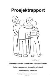 Prosjektrapport Hørende barn med døve foreldre - Helseetaten