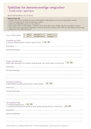 Sjekkliste for demensvennlige omgivelser - Helseetaten