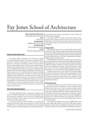 PDF of Jones School of Architecture chapter - Catalog of Studies ...