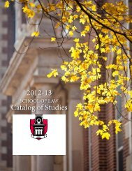 PDF of School of Law Catalog - Catalog of Studies - University of ...