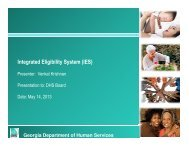 Integrated Eligibility System (IES) - Department of Human Services