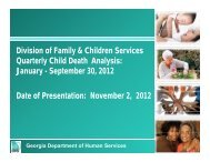 Division of Family & Children Services Quarterly Child Death ...