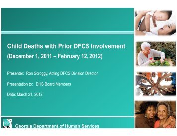 Child Deaths with Prior DFCS Involvement - Department of Human ...
