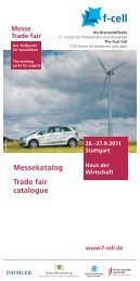 Messekatalog Trade fair catalogue - F-Cell