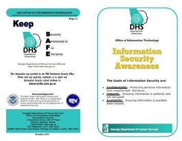 Information Security Awareness Brochure - Department of Human ...