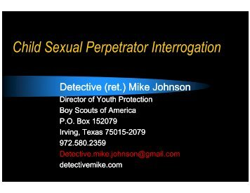 Child Sexual Perpetrator Interrogation - Division of Family and ...