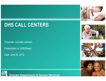 DHS CALL CENTERS - Department of Human Services