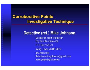 Detective (ret.) Mike Johnson - Division of Family and Children ...