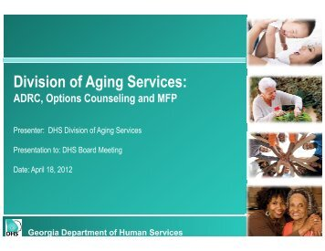 Division of Aging Services: - Department of Human Services