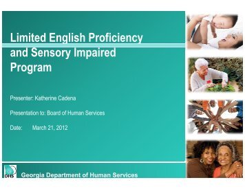 Limited English Proficiency and Sensory Impaired Program