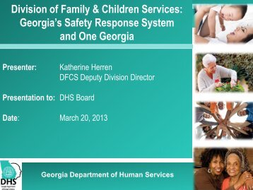 TITLE PAGE - Department of Human Services