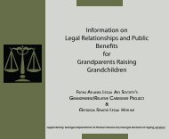 Information on Legal Relationships and Public Benefits for ...