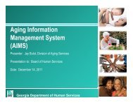 Aging Information Management System (AIMS) - Department of ...