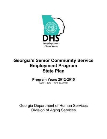 Georgia's Senior Community Service Employment Program State Plan