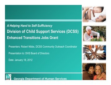 Division of Child Support Services (DCSS) - Department of Human ...
