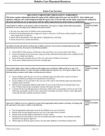 Relative Care Placement Resources