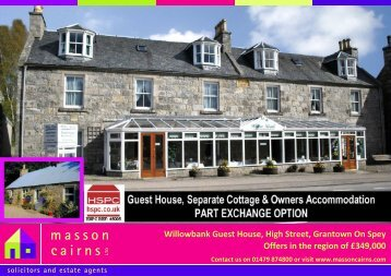 Willowbank Guest House, High Street, Grantown On Spey ... - HSPC