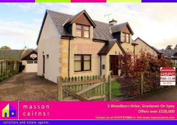 5 Woodburn Drive, Grantown On Spey Offers over £220,000 - HSPC