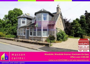 Woodside, Woodside Avenue, Grantown-On-Spey Offers in ... - HSPC