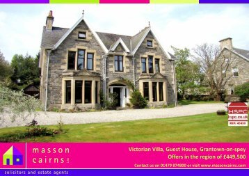 Victorian Villa, Guest House, Grantown-on-spey Offers in the ... - HSPC