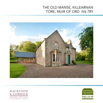 the old manse, killearnan tore, muir of ord iv6 7ry - HSPC