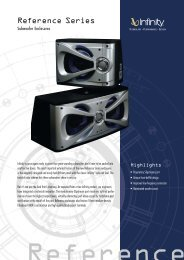 Specification Sheet - Reference Subwoofer Enclosures ... - Infinity