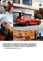 PERFEKTE IDEEN FÜR DEN HERBST. UNSERE ... - Autohaus Reier