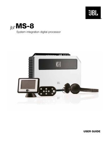 JBL MS 8 Owners Manual