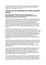 Hans-Dietrich Genscher im APA-Interview