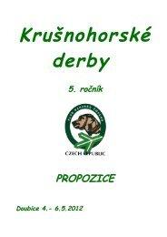 Propozice soutěže barvářů Krušnohorské Derby 2012