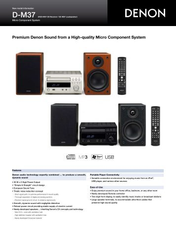 Premium Denon Sound from a High-quality Micro Component System