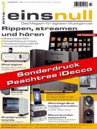 iDecco - Test bei einsnull 02/2010 (PDF) - Peachtree Audio