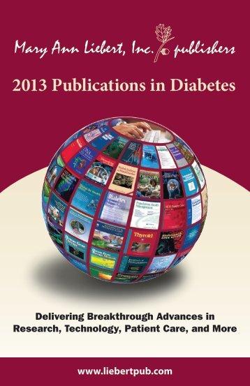 2013 Publications in Diabetes - Mary Ann Liebert, Inc.