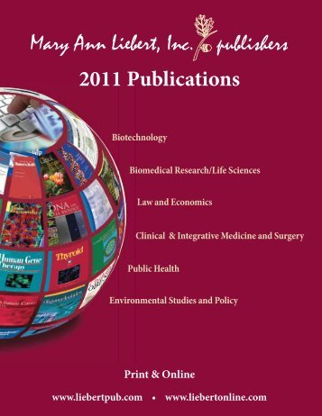 2011 Publications - Mary Ann Liebert, Inc.