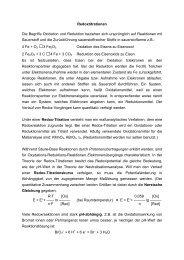 Redoxtitrationen Die Begriffe Oxidation und Reduktion beziehen ...