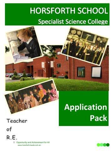 Teacher of RE application pack Feb 13.pdf - Drighlington Primary ...
