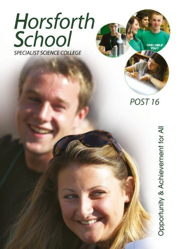 Horsforth School Sixth Form Prospectus