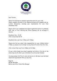 basc application doc - Drighlington Primary School