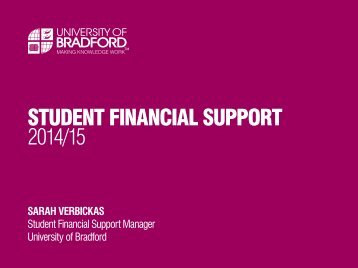 Student Financial Support 2014/15 (PDF, 1MB) - University of Bradford
