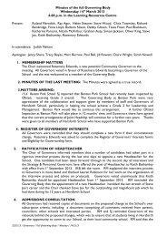 HORSFORTH Minutes 14 03 13 - Drighlington Primary School