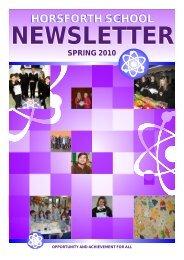 Spring 2010 Newsletter - Drighlington Primary School