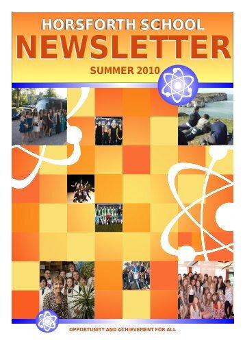 SUMMER 2010 Newsletter - Drighlington Primary School