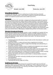 Food Policy - Drighlington Primary School