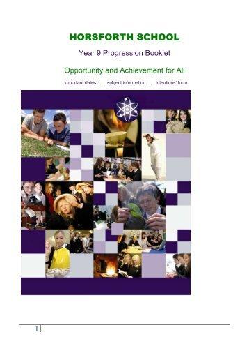 KS4 Option Choices booklet - 2011 - Drighlington Primary School
