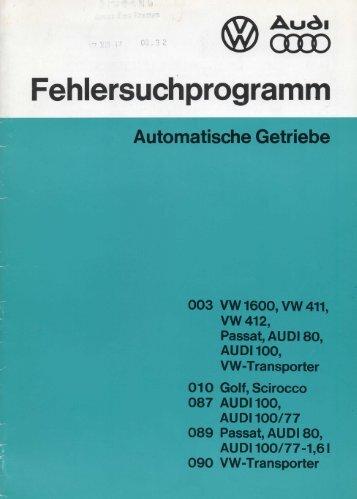 Fehlersuchprogramm - Automatische Getriebe - Vwtyp3info.de