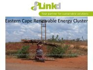 Conceptualising the Eastern Cape Renewable Energy Cluster - Dedea