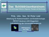 Das Schilddrüsenkarzinom - schilddrüse österreich