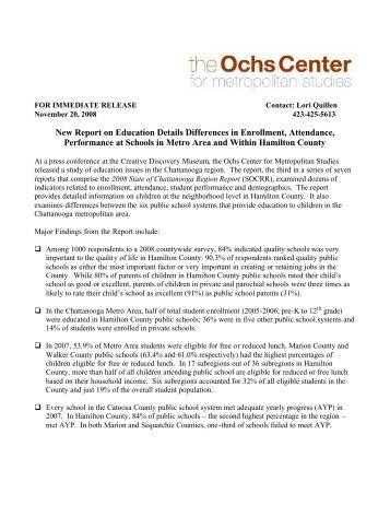 Education - Ochs Center for Metropolitan Studies