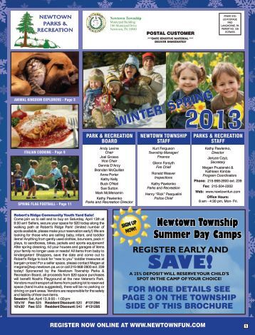 Winter Spring 2013 Brochure - Newtown Township Parks and ...