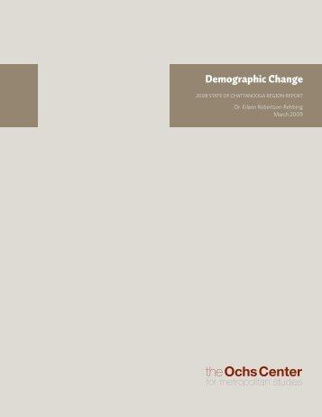 Demographic Change - Ochs Center for Metropolitan Studies